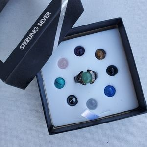 Sterling Silver Interchangeable Bead Stone Ring